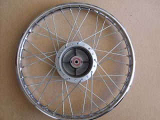 You are bidding on a complete FRONT wheel (1.20x17) as shown