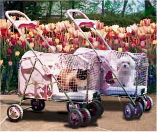 Kittywalk Kwpspink 5th Ave Pet Dog Cat Stroller Pink