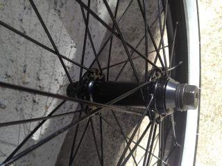 United Bike 36 Complete Wheel Set Wheels Black Back Front Tires Fit