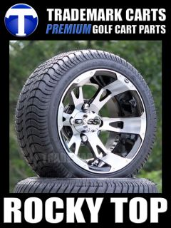 Low Profile Golf Cart Tires ITP SS112 Aluminum Wheels