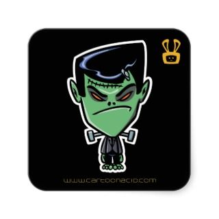 Halloween Stickers   Cartoon Frankenstein Monster