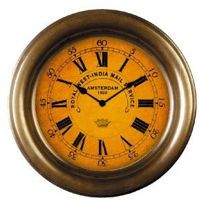 New Nautical Brass Ships Bulkhead Clock Quartz Wall 11