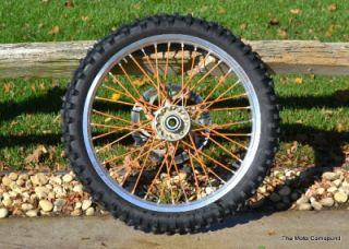 2003 KTM SX 125 SX125 Stock Front Wheel Hub Tire Spokes Rim