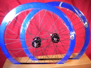 New Origin 8 Track Fixed Gear Wheelset Blue Fixie SS