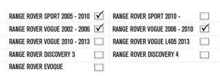 Hawke Black Exhaust Tips for Range Rover Sport 2010