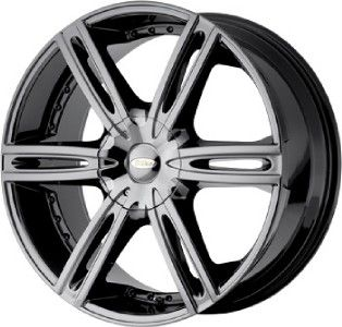18 inch DIAMO 39 Karat Black Chrome Wheel 5x5 5x127 38
