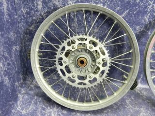 KTM 520 SX Wheel Rim Excel Silver Set 450 EXC 2001 Dirt Bike Parts
