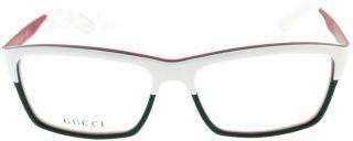 Gucci GG 3517 WXF White Green Red Unisex Designer Eyeglasses