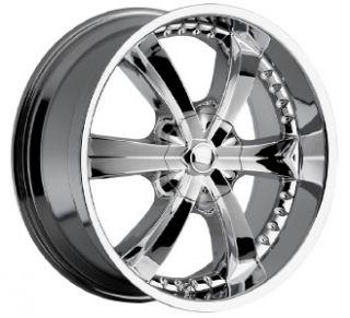 20 inch Cattivo 726 Chrome Wheels Rims 6x135 30
