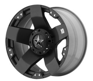 Rockstar 20 x 12 Ford Chevy Dodge 8 Lug 6 Lug Wheels XD Matte Black