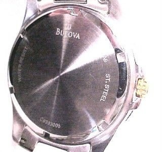 Bulova Marine Star Black Dial Bezel Steel Watch Women