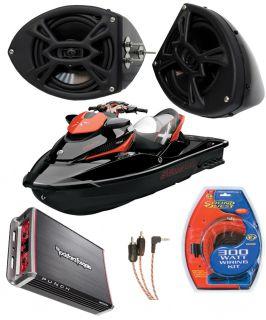 Sea Doo PWC Rockford Marine Audio Amplifier Speaker Box w P152 Speaker