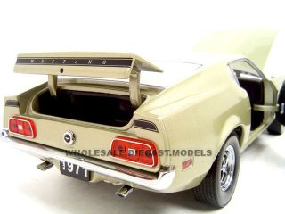 Brand new 1:18 scale diecast model car of 1971 Ford Mustang SportsRoof