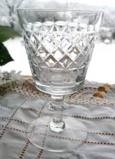 rare small wine glasses from the 1960s Webb Corbett factory. I have