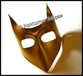 Gold Leather Devil Mask Mardi Gras Masquerade Costume