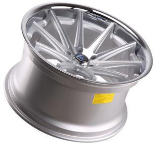 20 Rohana RC10 Wheels Concave Silver Machined Staggered All Makes