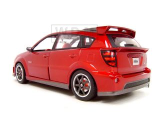 2003 Pontiac Vibe GTR Red 1 18 Diecast Model