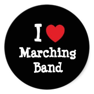 love Marching Band heart custom personalized Sticker