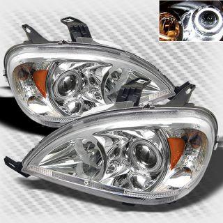 98 05 Mercedes Benz W163 ml Class Halo Projector Headlights Lamp Head