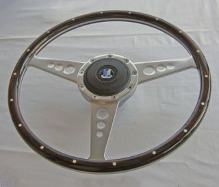 Triumph Spitfire TR6 15 Wood Alloy Steering Wheel