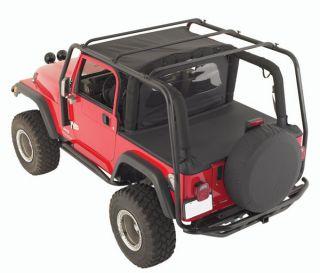 Smittybilt 76713 97 06 Jeep Wrangler SRC Roof Rack 300 lb Rating Black