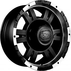 Detroit Wheels 182 7836B Blem ion 182 Series Black Matte Wheel