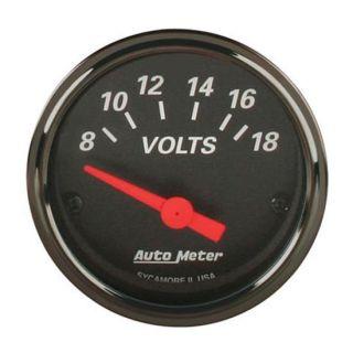 New Auto Meter Vintage Designer Black Individual Voltmeter Volt Gauge