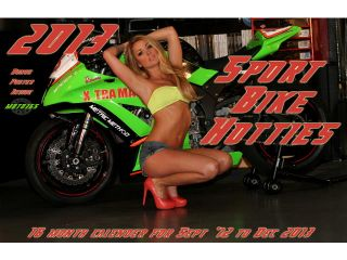 2013 16 Month Calendar Sport Bike Hotties 9 12 12 13