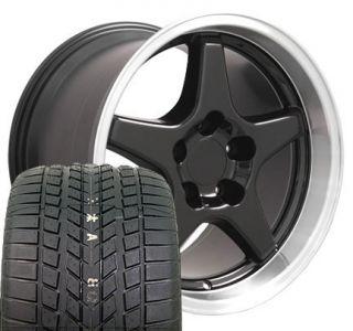 17 9 5 11 Black Corvette ZR1 Style Wheels Sumitomo Tiresrims Fit