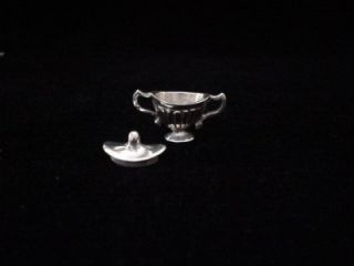 Solid Sterling Miniature Tea Set with Sterling Tray Vintage Antique