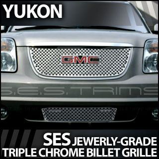 2007 2012 GMC Yukon Ses Chrome Punch Grille Top Bottom
