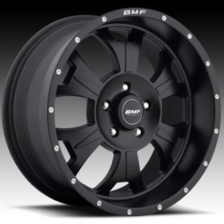 17x9 Flat Black BMF M 80 Wheels 5x5  12 Lifted JEEP GRAND CHEROKEE