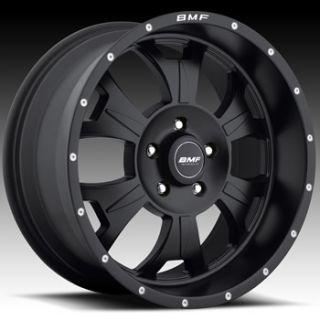 17x9 Flat Black BMF M 80 Wheels 5x5  12 Lifted JEEP GRAND CHEROKEE
