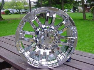 Bolt Ford Chevy Dodge Chrome Vision 375 Wheels 18 GH Offset