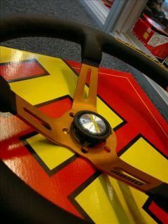 New Genuine Momo Steering Wheel Drifting Orange Italy