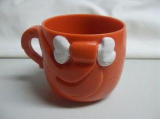 Vintage 70s Pebbles Flinstones Figural Plastic Mug Cup