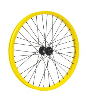 Shadow Stun Front Wheel 36h Hub BMX Bike Haro GT Yellow