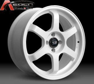 17x8 Rota Grid 4x100 20 White Wheel Fits Miata Civic Integra MR2
