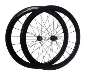 Road Bike Wheelset 50mm in 3K Complete Wheels Rim Paint Decals