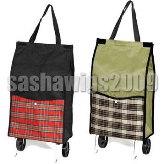New Fold Away Up Shopping Trolley Bag Luggage on Wheels