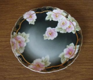 ANTIQUE ROSENTHAL MIRAMARE BAVARIA FLORAL PLATE WITH SCALLOPED RIM