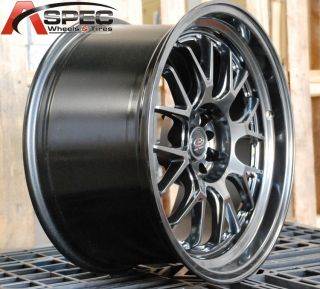 18x9 5 Rota MXR R 5x114 3 20 Hyper Black Wheel Fits TSX Accord Eclipse