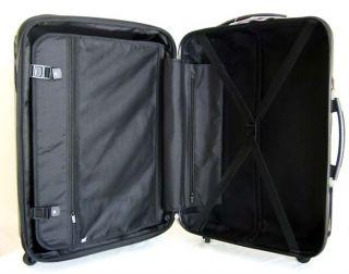 Luggage Set Hard Rolling Expandable Upright 4 Wheels Spinner Blue