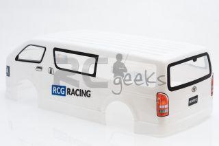 RCG Racing Radio Control RC Car Toyota Hiace Body Shell Clear 1 10th