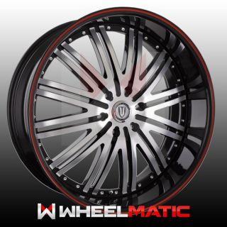 Set of 4 New 24 Versante 212 6x139 7 25 Wheels Rims Black