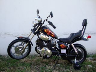 Electric Battery Power Ride On Motorcycle Harley 15 Wheels Boys Blk