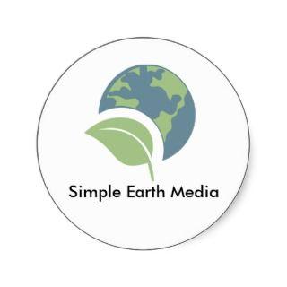 Simple Earth Media Logo Sticker