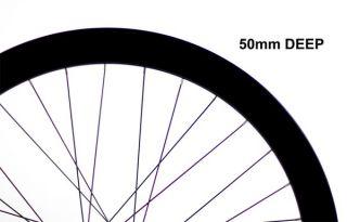 Fixie Freewheel Single Speed Wheel Wheelset 50mm Deep Black