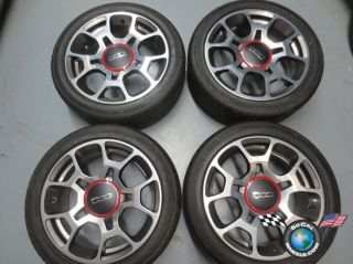 2012 Fiat 500 Abarth Factory 16 Wheels Tires Rims OEM 61663 195/45/16