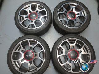 2012 Fiat 500 Abarth Factory 16 Wheels Tires Rims OEM 61663 195/45/16